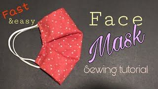 Face Mask Sewing Tutorial How to make a face mask with filter pocket DIY cloth face mask