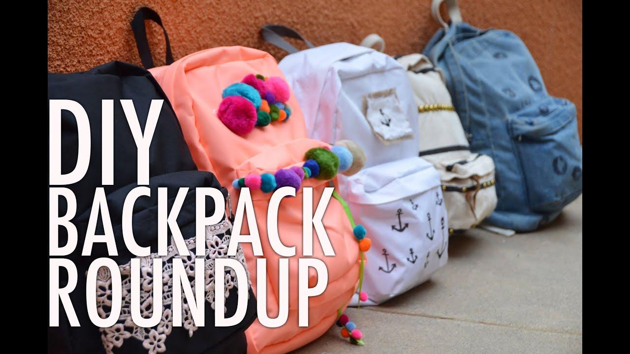 diy backpack bonanza roundup with mr kate youtube
