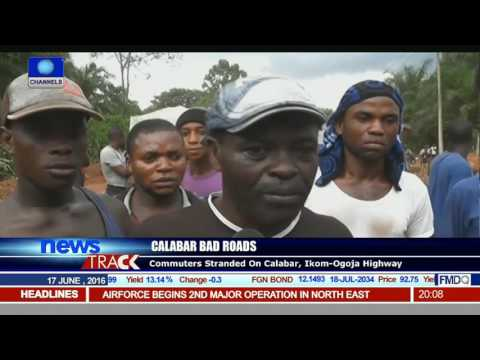 Calabar Bad Roads: Commuters Stranded On Calabar, Ikom-Ogoja Highway