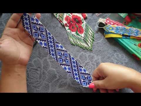 Ткачество на станке ошибки и навыки, галстук из бисера