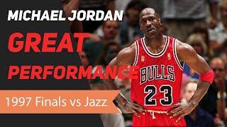Michael Jordan 1997 NBA Finals Great Performance
