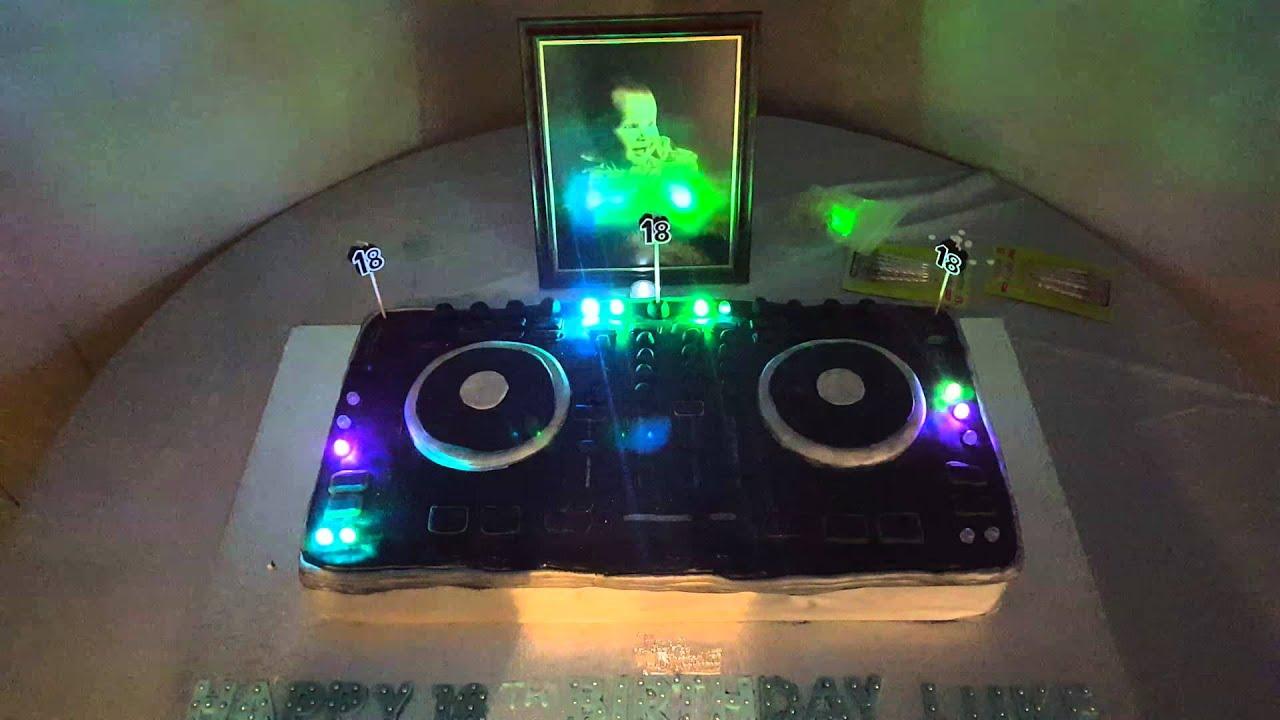 DJ DECKS BIRTHDAY CAKE YouTube