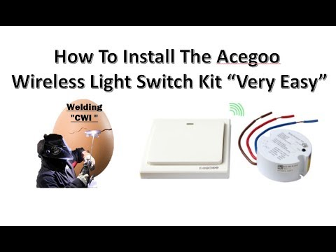 How To Install The Acegoo Wireless Lights Switch Kit Very Easy To Do