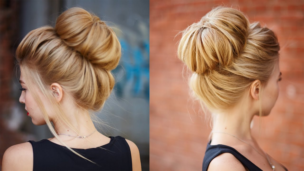 Chic Textured Bun Updo For Prom Wedding Youtube