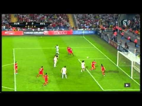 Turkey vs. Belgium - Daniel Van Buyten's (2nd) goal (highlight)