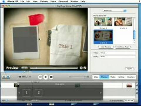 How to Use Apple iMovie : Using Themes in iMovie - YouTube