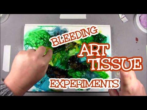 Bleeding Art Tissue Experiments