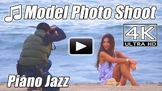 PIANO JAZZ Sexy Fashion MODEL PHOTO SHOOT Smooth Instrumental 4K Music Video Photography photoshoot