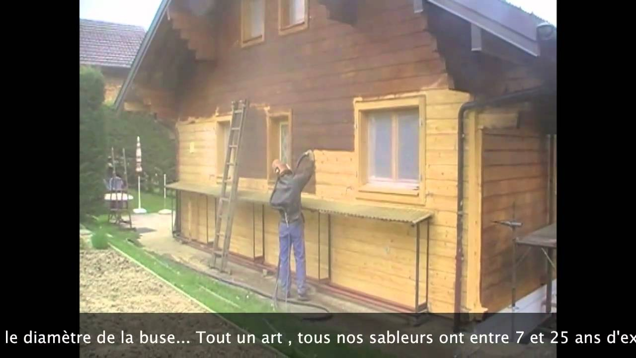 Amenagement Chalet Sablage-gommage Bois Hydro Gommage - Youtube