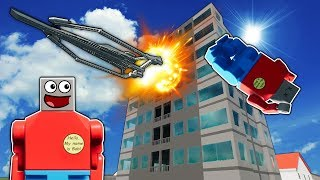 Idiots Try To SURVIVE Tower Disasters! - Brick Rigs Lego Multiplayer Gameplay