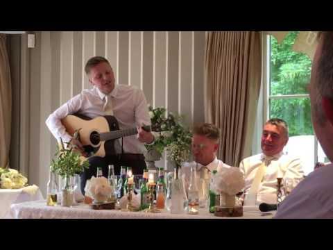 Funniest best man wedding song !! Memories keeps yesterday alive