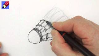 How to draw a shuttlecock real easy