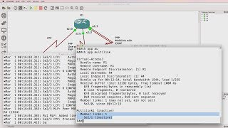 CCNA v3.0 200-125 GNS3 Labs: Troubleshoot PPP Mulitlink. Be careful of debugs!