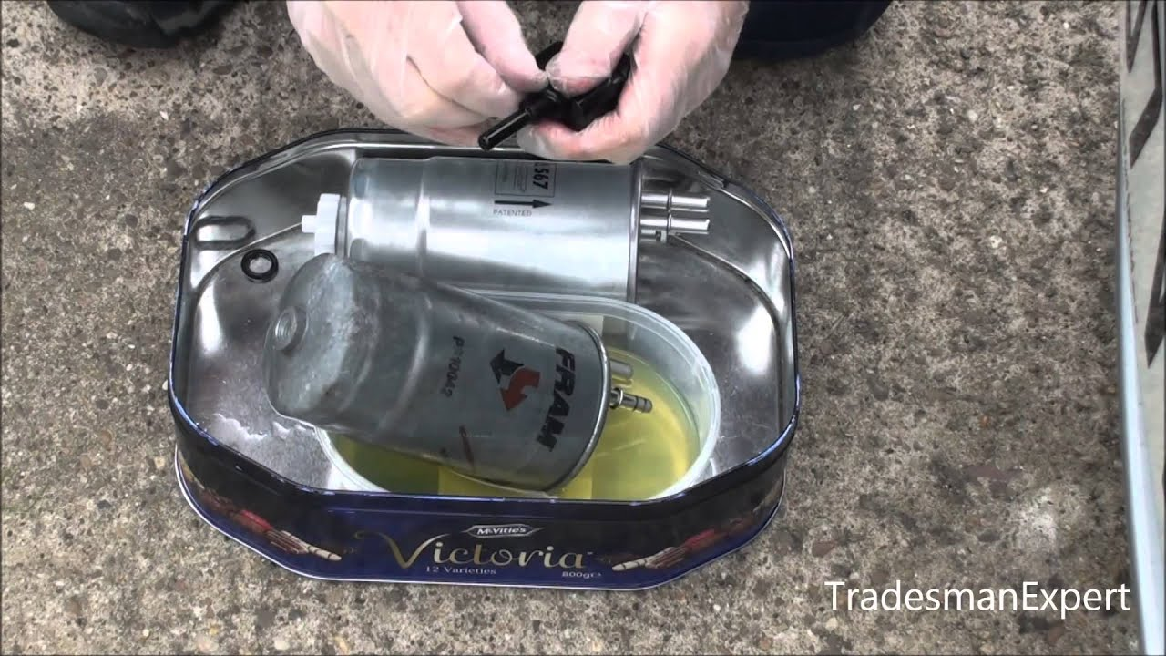 Vauxhall Astra Diesel 1 3 Cdti Fuel Filter Replacement Youtube