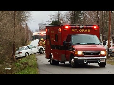 Mount Orab Fire Department Responding To Car Wreck In Front Of Jawtooth Compound!