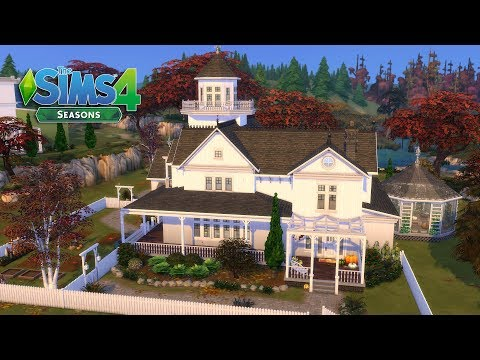 The Sims 4 - Practical Magic - Witch Family House! 1/2 (House build) Seasons thumbnail