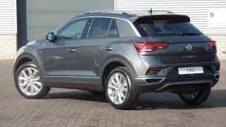 Volkswagen NEW 2018 T-Roc Sport Indium grey metallic 18 inch Grange Hill walk around & inside detail