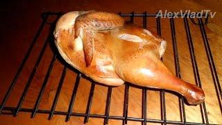 Копчение курицы горячим способом