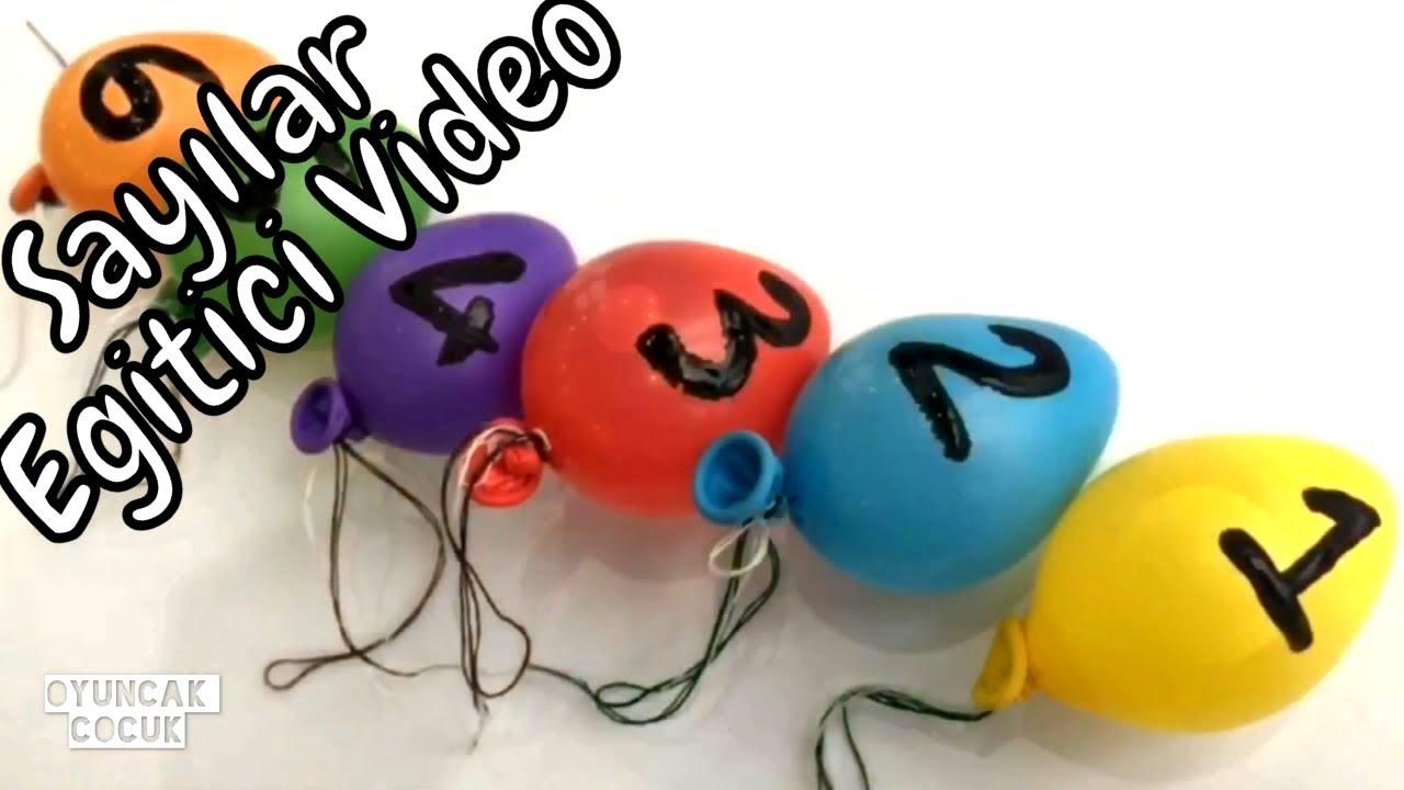 Renkleri Ve Sayilari Ogreniyorum Ve Balon Oyunu Boyama Egitici