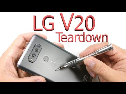 LG V20 Teardown - Screen repair, Battery Swap, Charging port