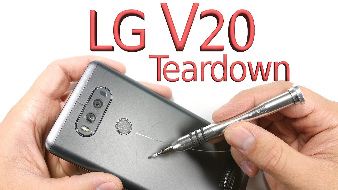 LG V20 Teardown - Screen repair, Battery Swap, Charging port fix