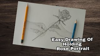 How To Draw Hand Holding Rose Easy Way Tutorial Youtube