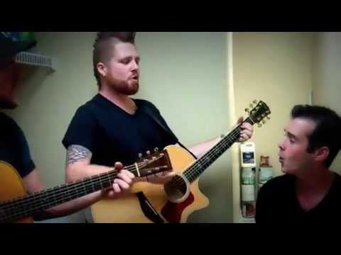"Josh Paige 222 performing an acoustic ""American Kids"" cover during their segment ""Live from the Laundry Room.""  Percussion used- Cajon."