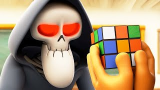 Spookiz | Skeleton Teacher Rubiks Cube Challenge | Cartoon for Children | Funny Animated Cartoon