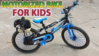 Build a Motorized Bike For Kids Using Grass Cutter 2-Stroke Engine - Tutorial