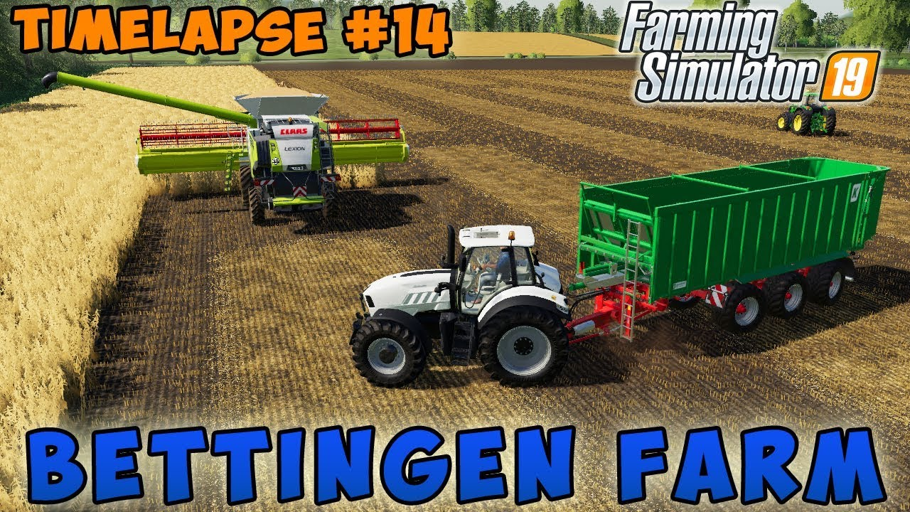 Farming simulator 19 | Bettingen Farm | Timelapse #14 | Harvesting crop and  mowing grass