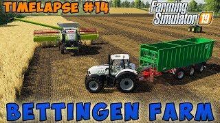 Farming simulator 19 | Bettingen Farm | Timelapse #14 | Harvesting crop and mowing grass