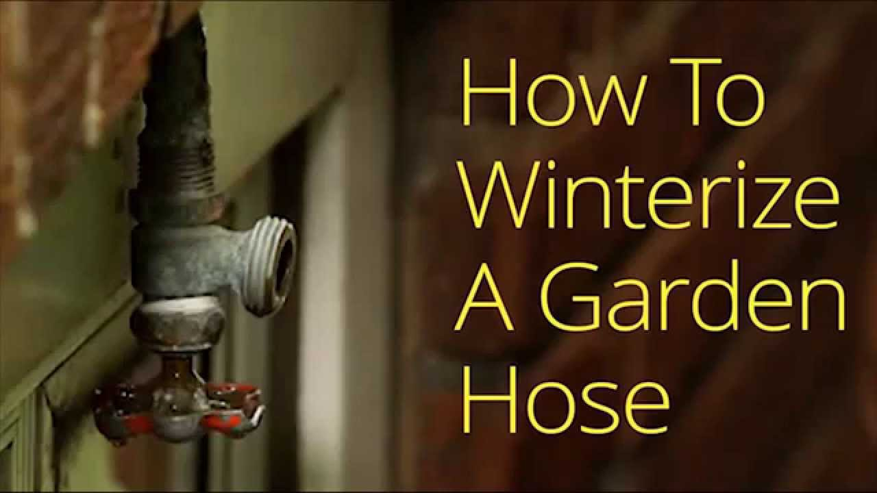 how to winterize your outside garden hose bib youtube