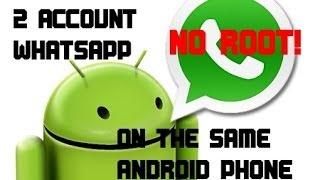 MULTI WHATSAPP ACCOUNT ON ANDROID PHONE!! [NO ROOT!!] ITA TUTORIAL