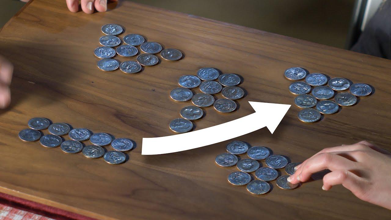 The Ten Coin Pyramid Puzzle