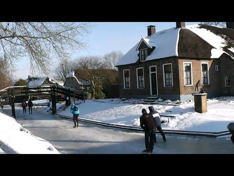 Meren schaatstocht,Wanneperveen,Giethoorn.24-01-2013..