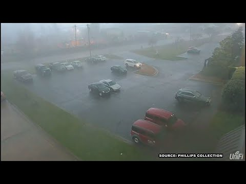 RAW: Tornado security video shows damage at Phillips Collection in High Point