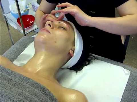 professional facial massage routine at The Norwich School of Beauty
