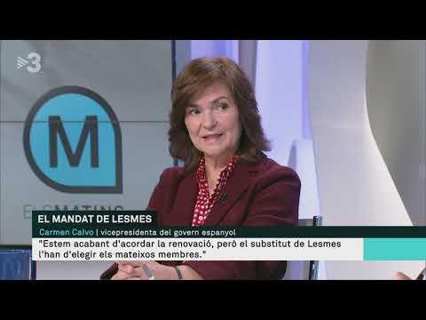 Carmen Calvo: 'Manuel Marchena no pot fer-se càrrec del judici de l'1-O'