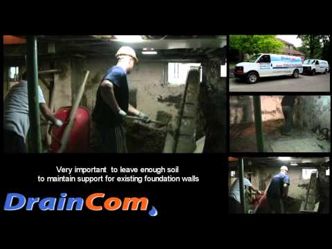 Basement Lowering and Underpinning Project in Toronto