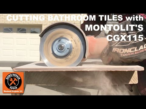 Cutting Bathroom Tiles with Montolit's CGX115  Blade