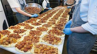 빵이 6천원인데 밤값만 3천원? 밤을 50개씩이나 넣어 사장이 미쳤다고 소문난 역대급 빵집┃Amazing Chestnut Bread - Korean street food