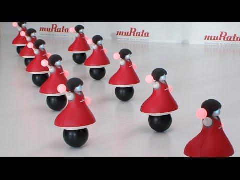 ボール上でフォーメーションダンスするグループ型ロボット「村田製作所チアリーディング部」誕生