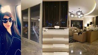 لجين عمران تسافر الى الرياض وتنزل باعلى سويت في افخم فنادق الرياض