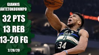 Giannis drops double-double in 27 minutes of work in Bucks vs. Thunder | 2019-20 NBA Highlights