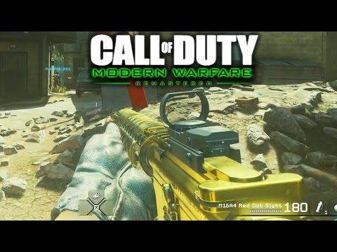 CALL OF DUTY MODERN WARFARE REMASTERED MULTIPLAYER GAMEPLAY! 20 MINUTES OF COD 4 REMASTERED GAMEPLAY