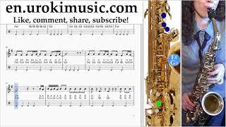 Saxophone lessons (Tenor) Imagine Dragons - Natural Sheet Music Tutorial um-ih352 Video