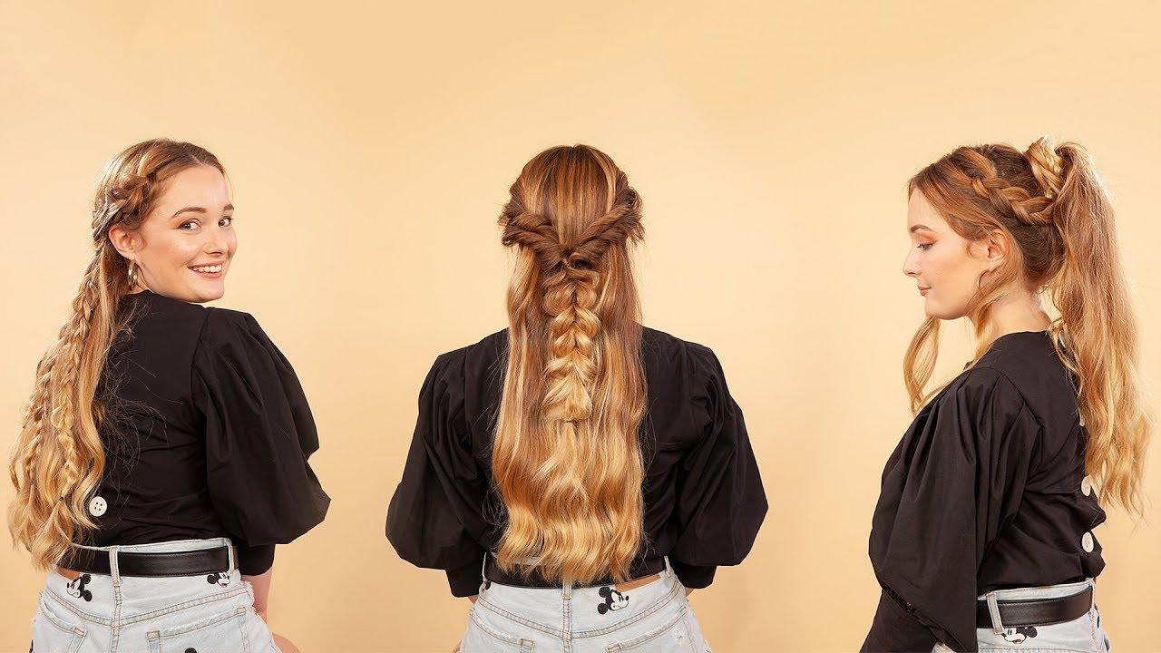 Invitadas 3 Peinados Con Trenzas Para Pelo Largo Elle Espana