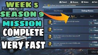 Week 5 Season 9 Mission Complete Very Fast | Hinglish Gamer