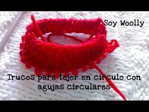 Cómo tejer en círculo con agujas circulares y algunos trucos magic loop , YouTube