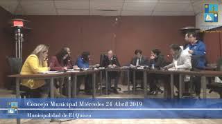 Concejo Municipal Miércoles 24 de Abril 2019 - El Quisco